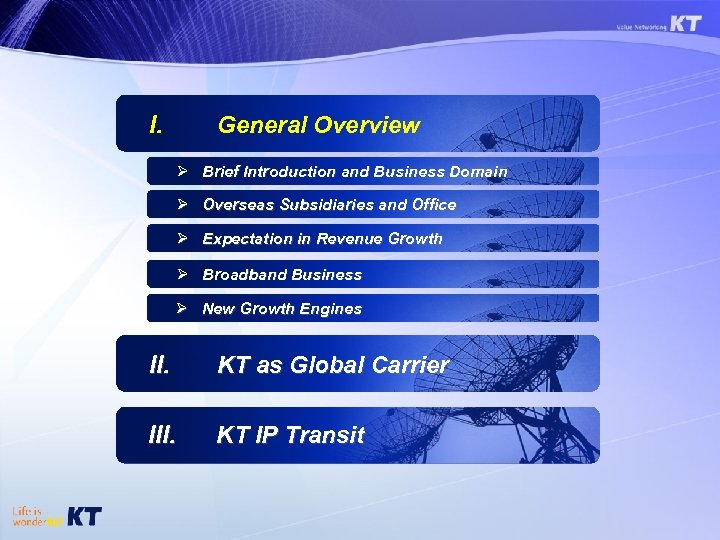 I. General Overview Ø Brief Introduction and Business Domain Ø Overseas Subsidiaries and Office