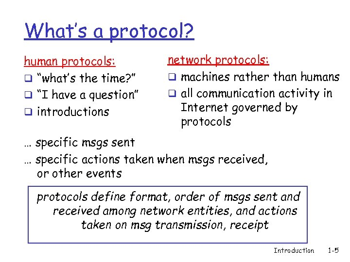 """What's a protocol? human protocols: q """"what's the time? """" q """"I have a"""