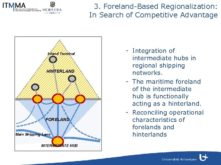 3. Foreland-Based Regionalization: In Search of Competitive Advantage Inland Terminal HINTERLAND FORELAND Main Shipping