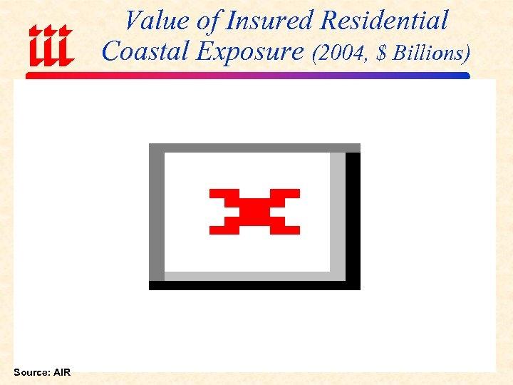 Value of Insured Residential Coastal Exposure (2004, $ Billions) Source: AIR