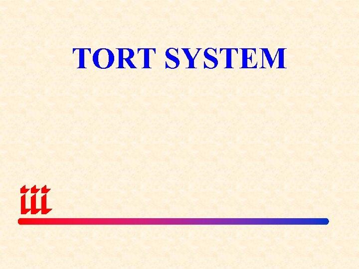 TORT SYSTEM