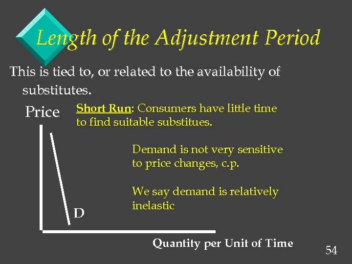 Length of the Adjustment Period This is tied to, or related to the availability