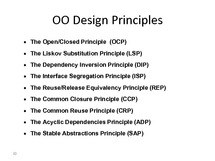 OO Design Principles · The Open/Closed Principle (OCP) · The Liskov Substitution Principle (LSP)
