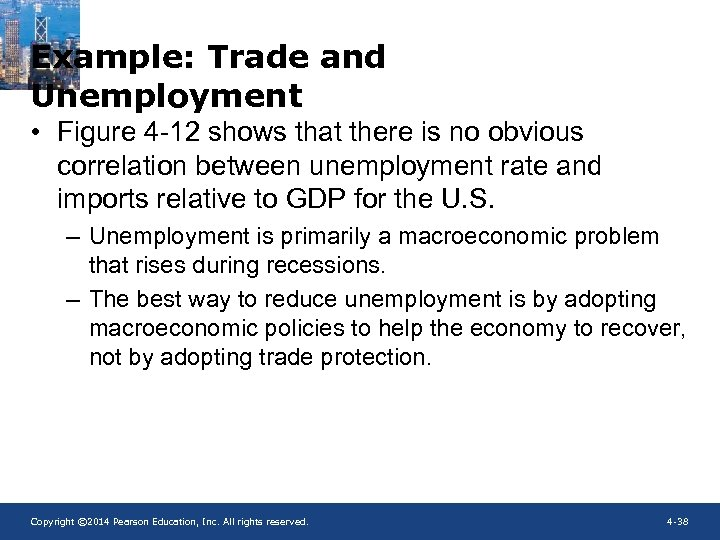 Example: Trade and Unemployment • Figure 4 -12 shows that there is no obvious