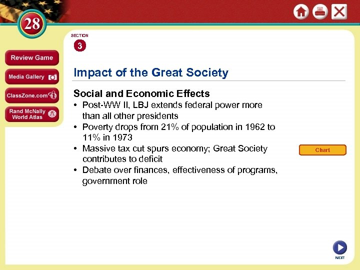 SECTION 3 Impact of the Great Society Social and Economic Effects • Post-WW II,