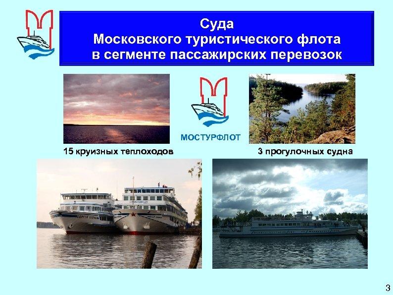 Суда Московского туристического флота в сегменте пассажирских перевозок МОСТУРФЛОТ 15 круизных теплоходов 3 прогулочных