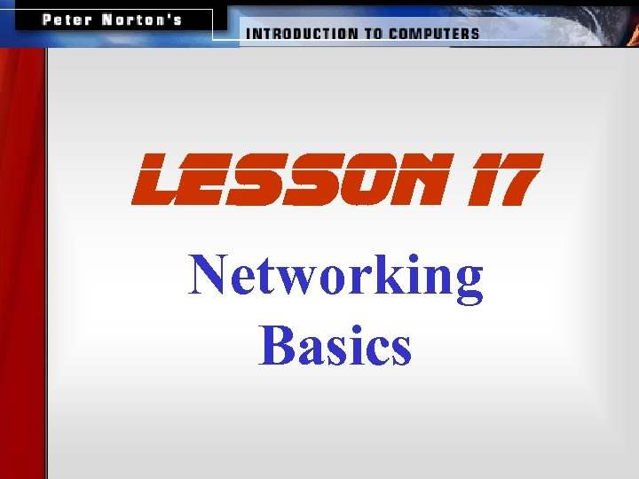 lesson 17 Networking Basics
