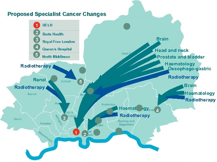 Proposed Specialist Cancer Changes 1 2 Barts Health 3 Royal Free London 4 4