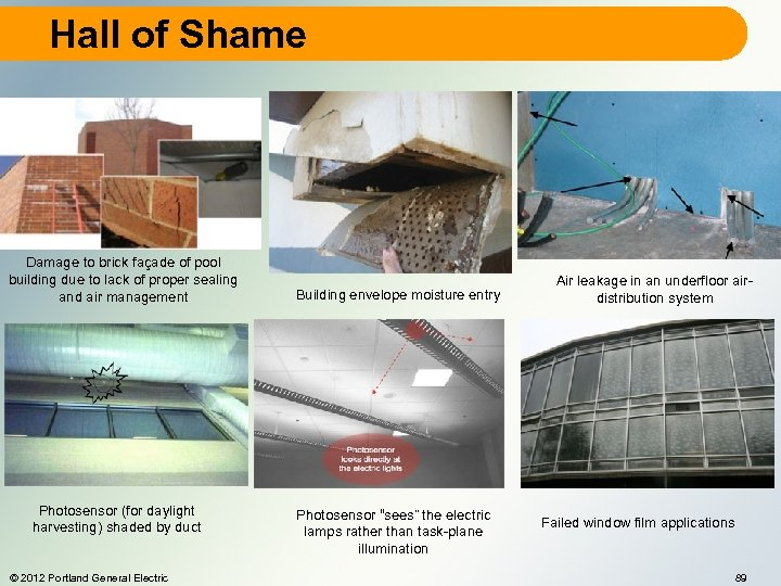 Hall of Shame Damage to brick façade of pool building due to lack of