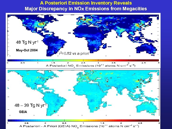 A Posteriori Emission Inventory Reveals Major Discrepancy in NOx Emissions from Megacities 48 Tg