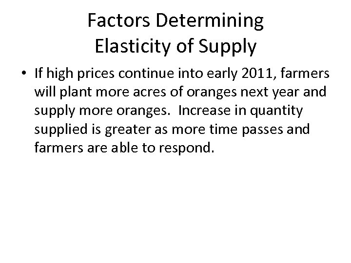 determining elasticity
