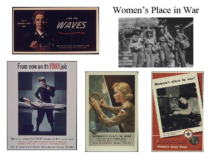 Women's Place in War