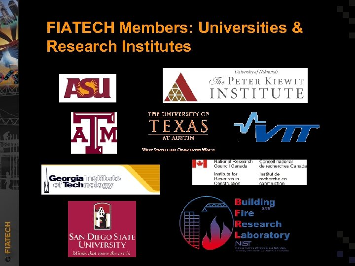 FIATECH Members: Universities & Research Institutes