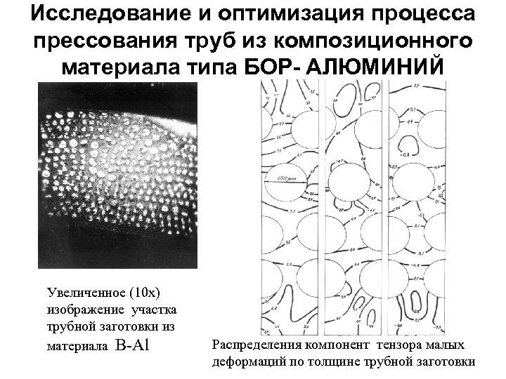 Исследование и оптимизация процесса прессования труб из композиционного материала типа БОР- АЛЮМИНИЙ Увеличенное (10