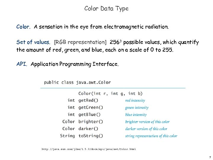 Color Data Type Color. A sensation in the eye from electromagnetic radiation. Set of