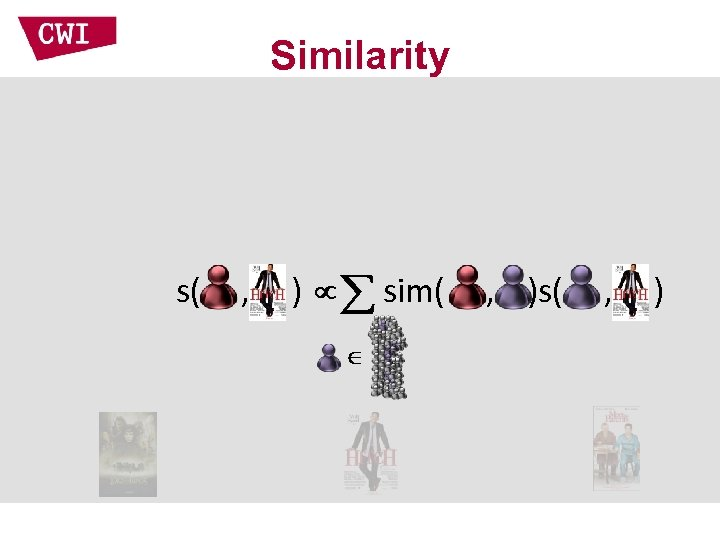 Similarity s( , ) sim( , )s( , )