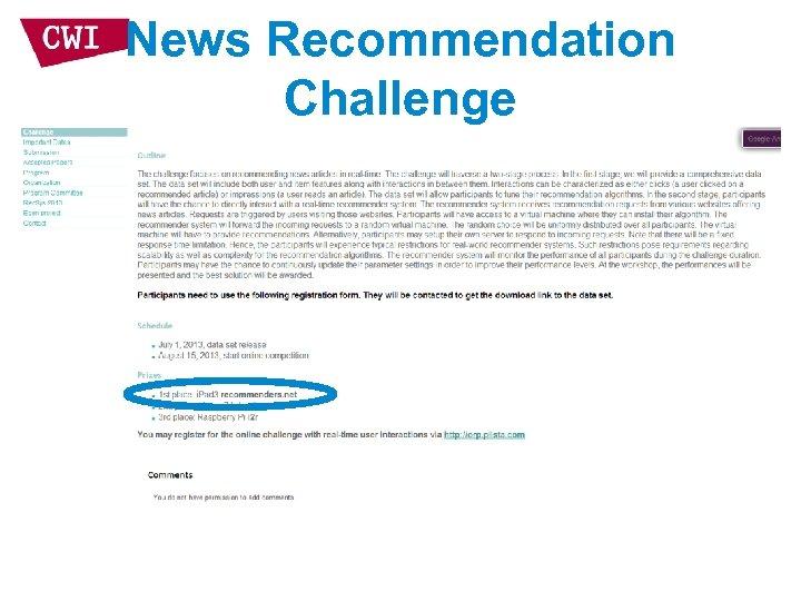News Recommendation Challenge