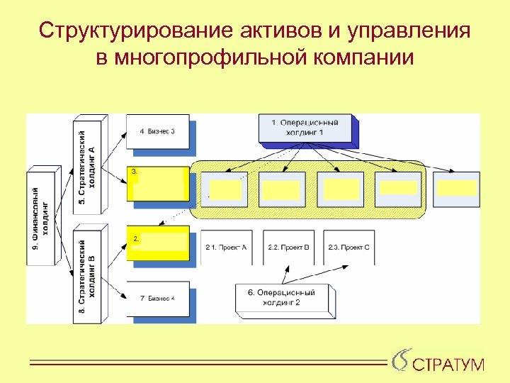 Структурирование активов и управления в многопрофильной компании