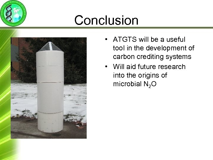 Conclusion • ATGTS will be a useful tool in the development of carbon crediting