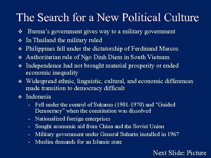 The Search for a New Political Culture v Burma's government gives way to a