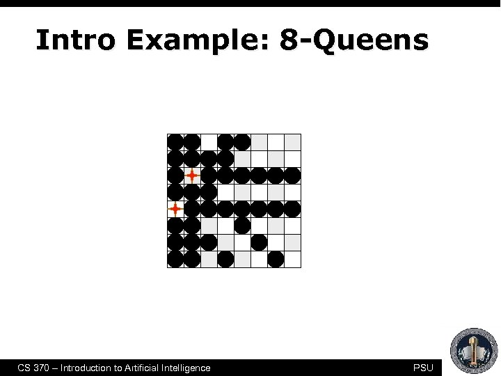 Intro Example: 8 -Queens CS 370 – Introduction to Artificial Intelligence PSU