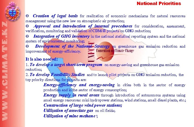 National Priorities Q Creation of legal basis for realization of economic mechanisms for natural