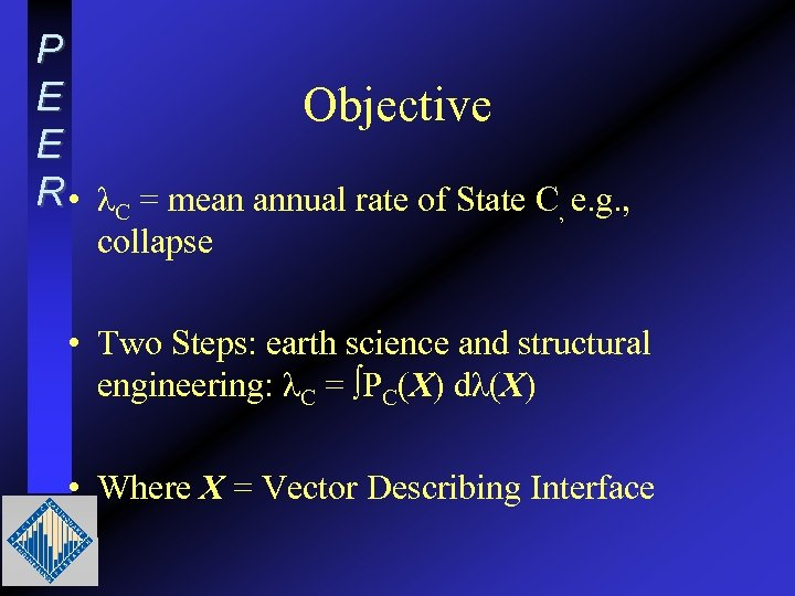 P E Objective E R • λC = mean annual rate of State C,