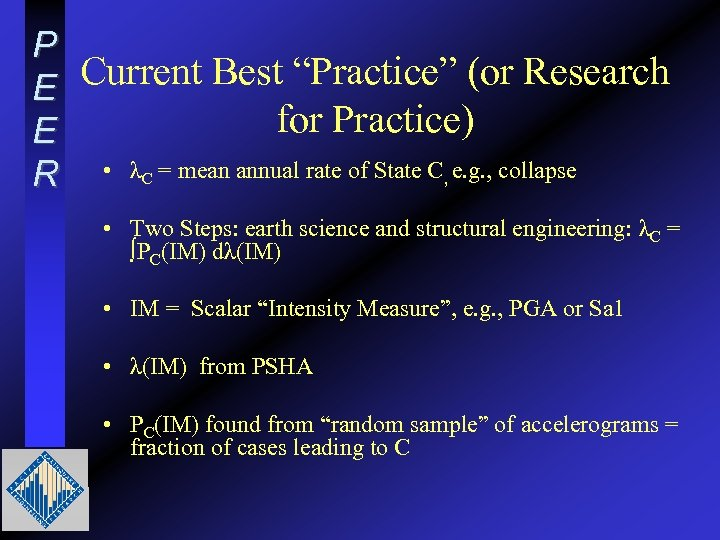 """P Current Best """"Practice"""" (or Research E for Practice) E R • λC ="""