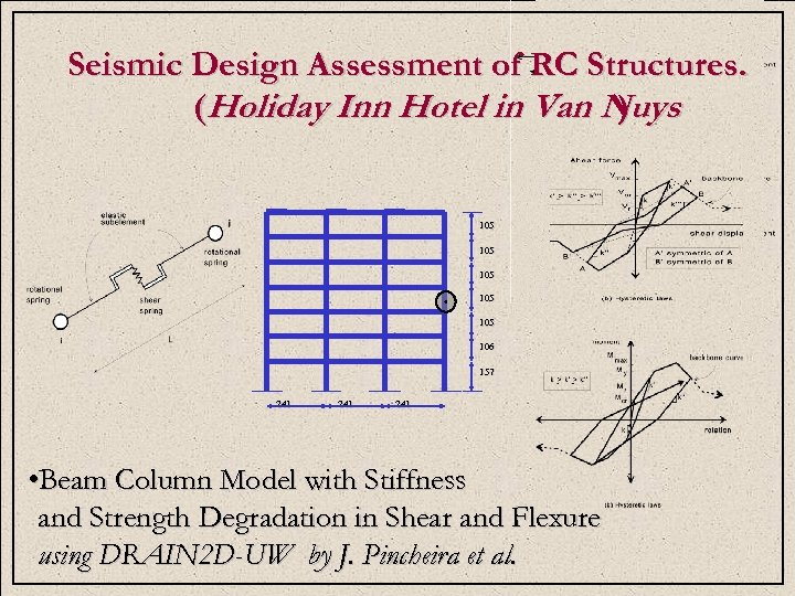 P Seismic Design Assessment of RC Structures. E (Holiday Inn Hotel in Van Nuys