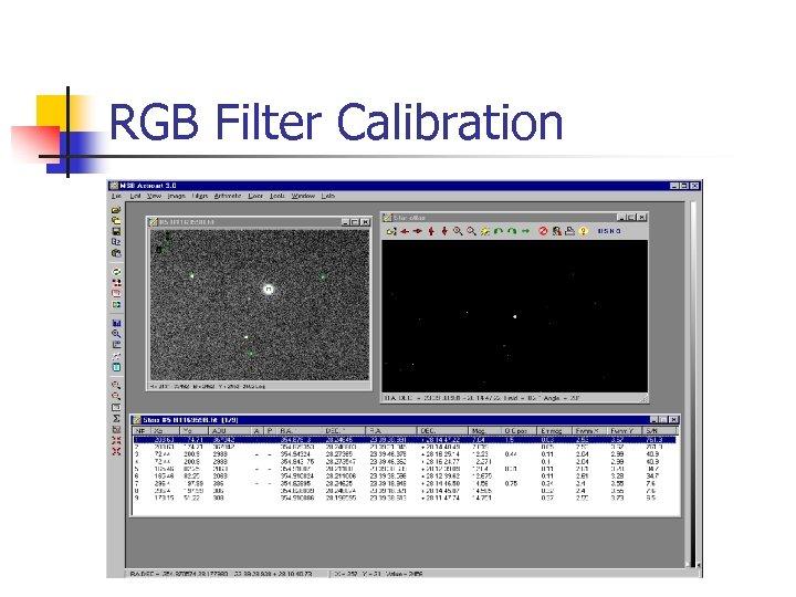 RGB Filter Calibration