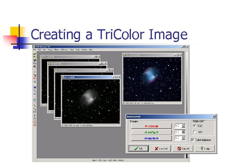 Creating a Tri. Color Image
