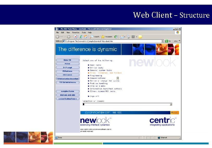 Web Client – Structure