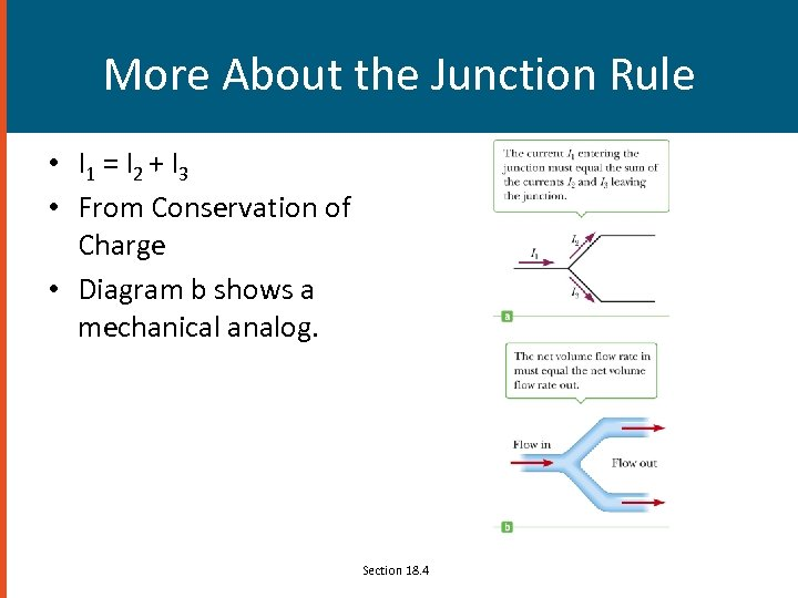 More About the Junction Rule • I 1 = I 2 + I 3