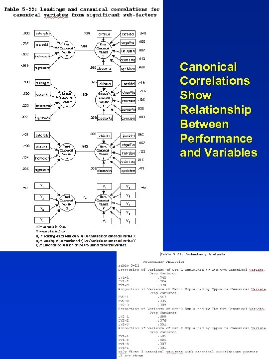 Canonical Correlations Show Relationship Between Performance and Variables 34