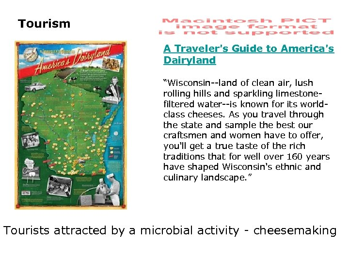 """Tourism A Traveler's Guide to America's Dairyland """"Wisconsin--land of clean air, lush rolling hills"""