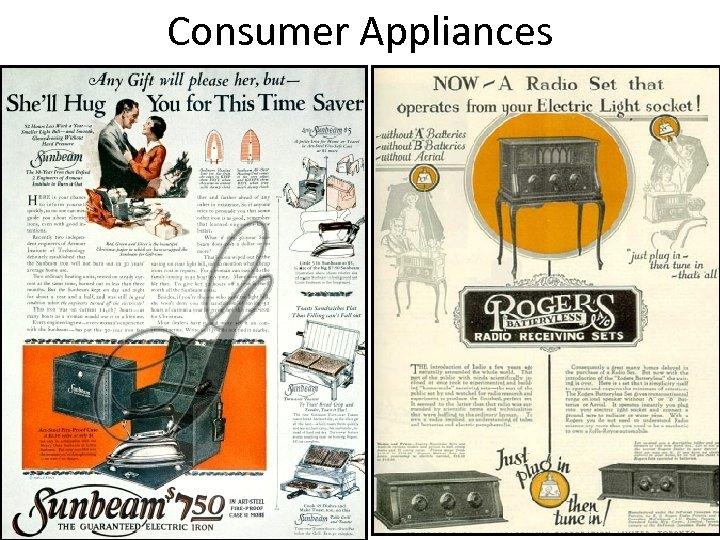 Consumer Appliances