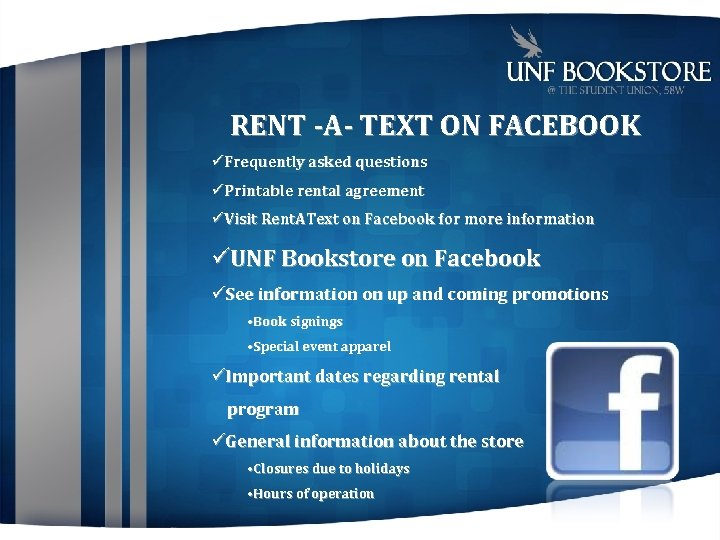 RENT -A- TEXT ON FACEBOOK Frequently asked questions Printable rental agreement Visit Rent. AText