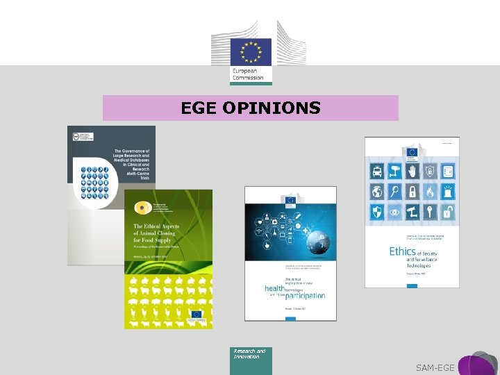 EGE OPINIONS Research and Innovation SAM-EGE