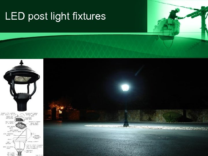 LED post light fixtures