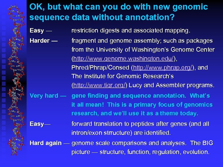 OK, but what can you do with new genomic sequence data without annotation? Easy