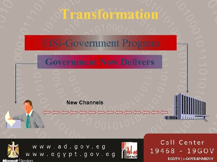 Transformation EISI-Government Program Government Now Delivers New Channels EGYPT | e-GOVERNMENT