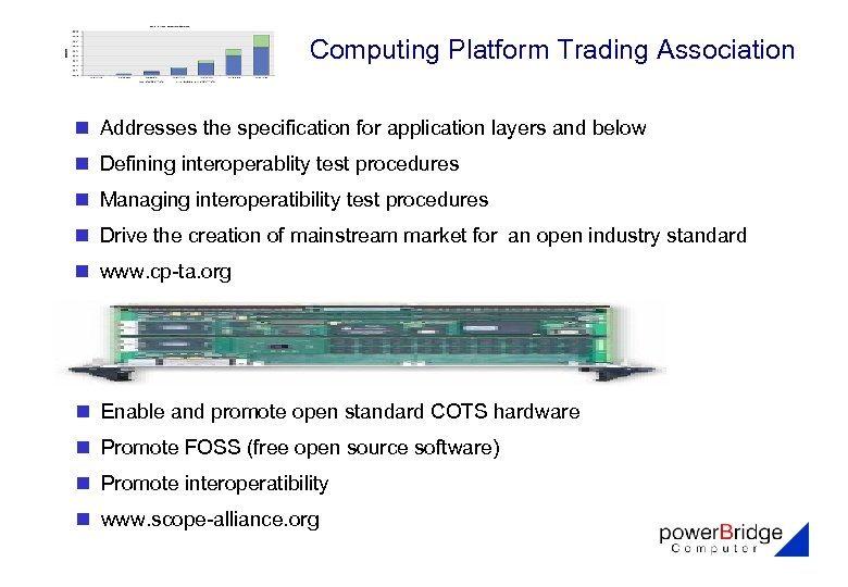 Computing Platform Trading Association n Addresses the specification for application layers and below n