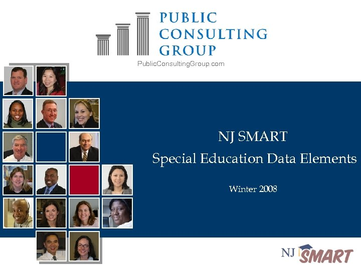 Public. Consulting. Group. com NJ SMART Special Education Data Elements Winter 2008