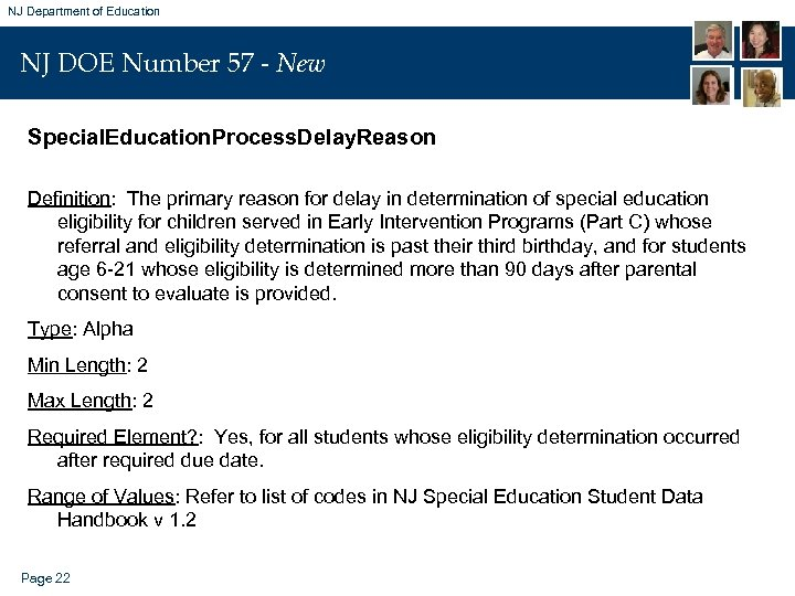 NJ Department of Education NJ DOE Number 57 - New Special. Education. Process. Delay.