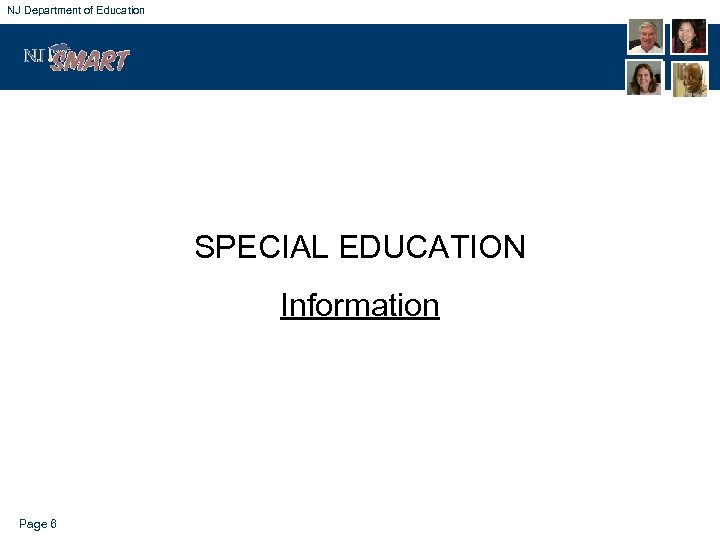 NJ Department of Education SPECIAL EDUCATION Information Page 6