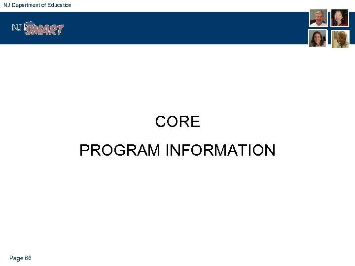NJ Department of Education CORE PROGRAM INFORMATION Page 66