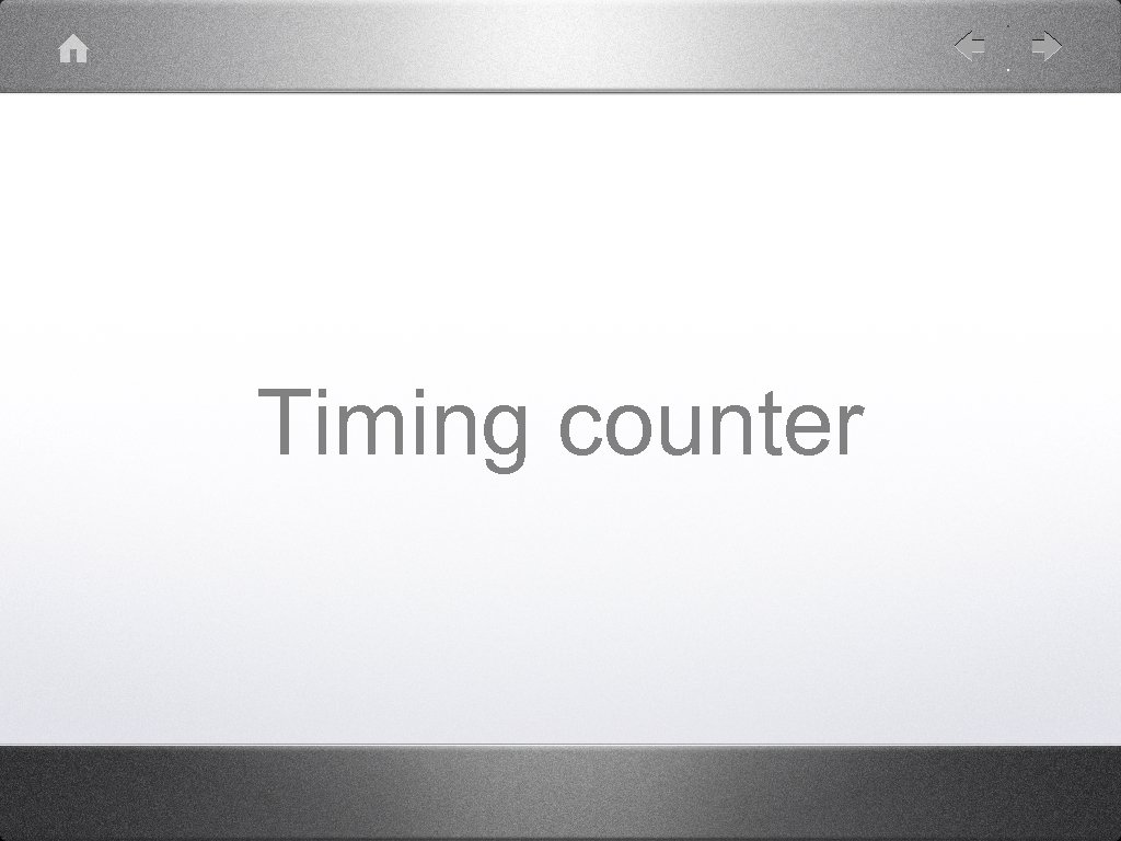 Timing counter