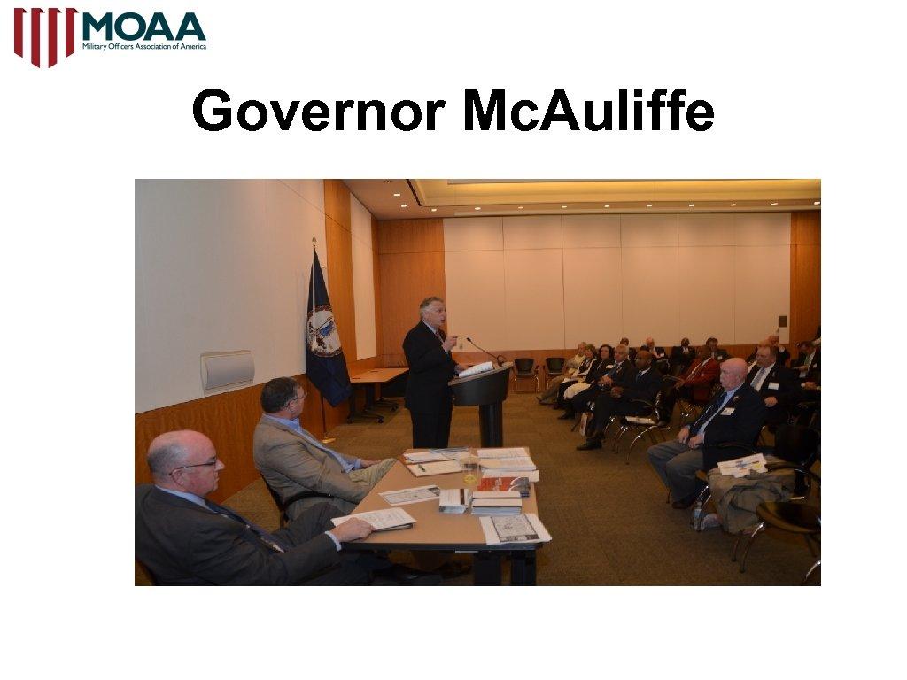 Governor Mc. Auliffe