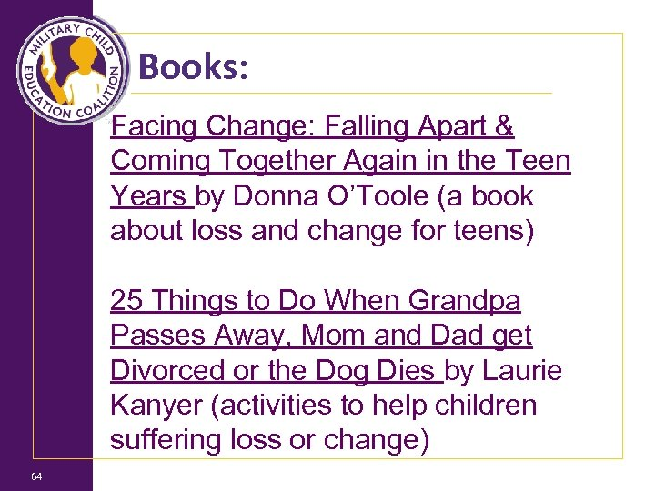 Books: Facing Change: Falling Apart & Coming Together Again in the Teen Years by