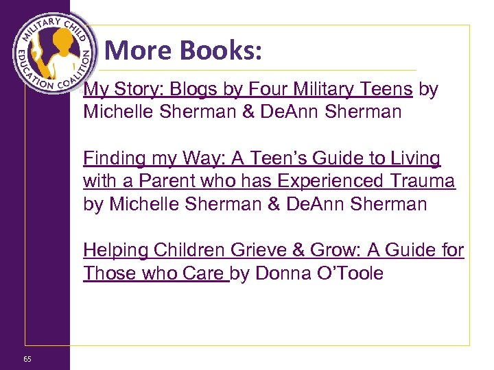 More Books: My Story: Blogs by Four Military Teens by Michelle Sherman & De.